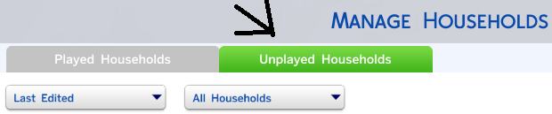 Click the Unplayed Households tab.