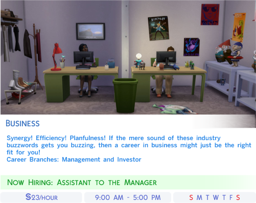 Sims 4 Career Top 3 Charts