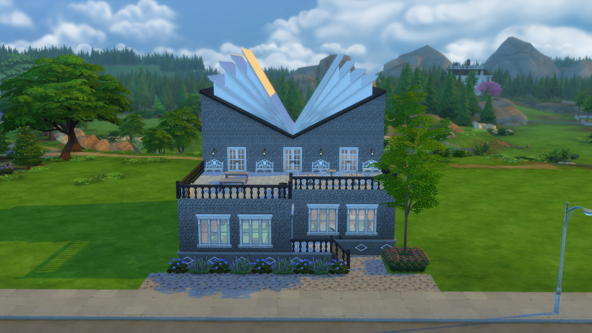 Sims 4 block party challenge newcrest public library for Legacy house