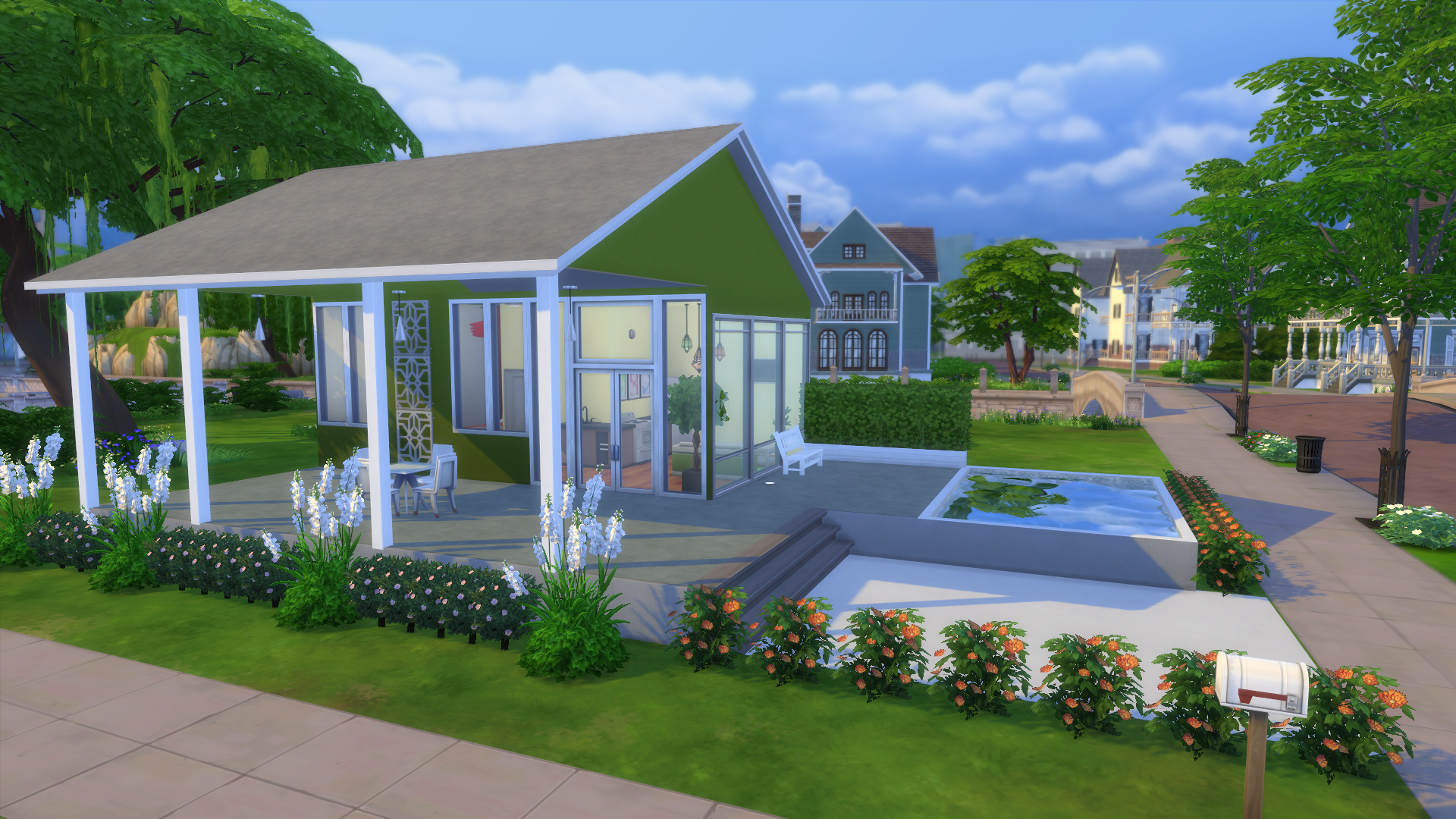 Modern Green Tiny House Tour The Sims Legacy Challenge