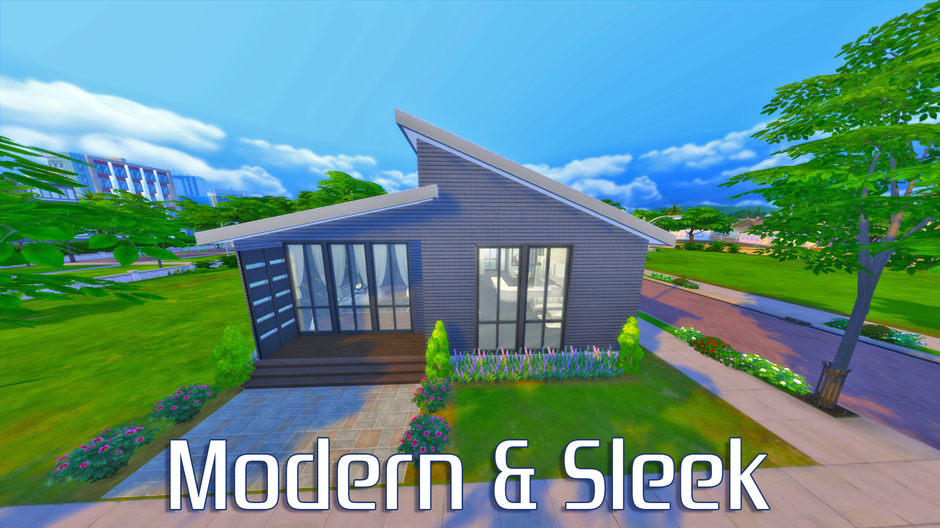 Sims 4 modern house for Sims 4 exterior design