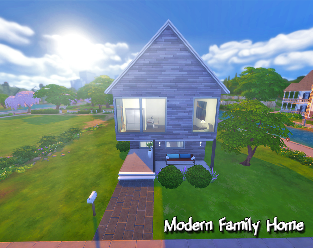 Mystic's Sims 4 House Builds – Modern Family Home – The Sims